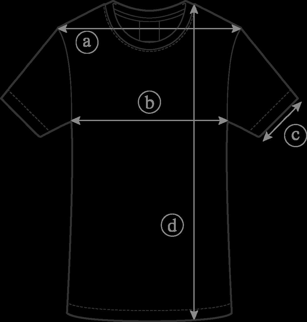 Guide des Tailles Tee-Shirt pour Homme Clement Dollet