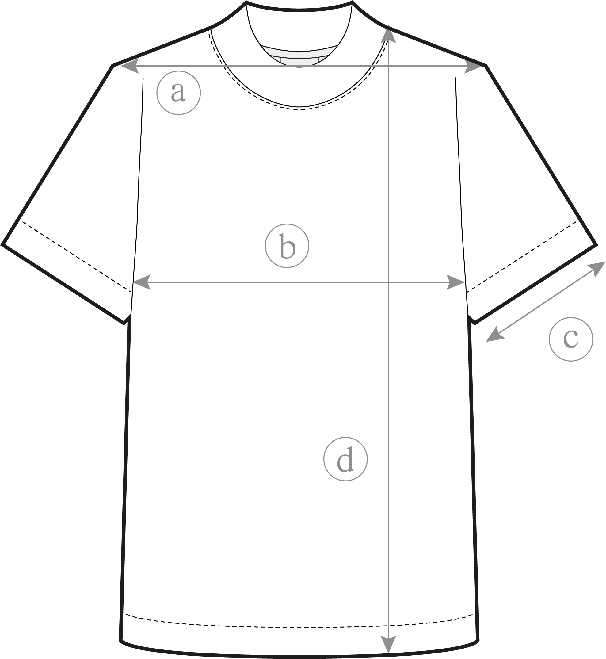 Guide des Tailles Tee-Shirt Essentiel Femme Clement Dollet