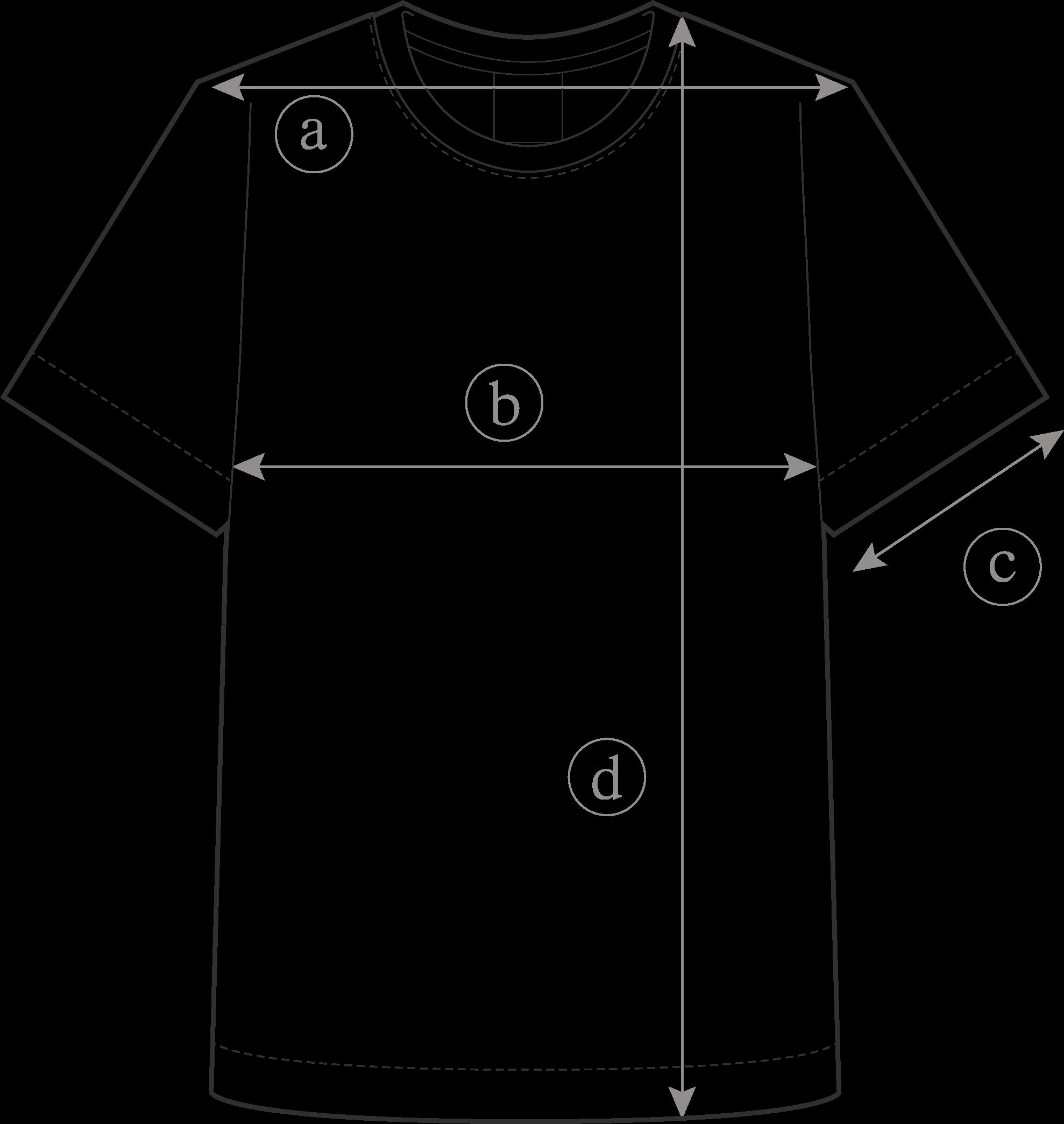 Guide des Tailles Tee-Shirt Hiroi Homme Clement Dollet